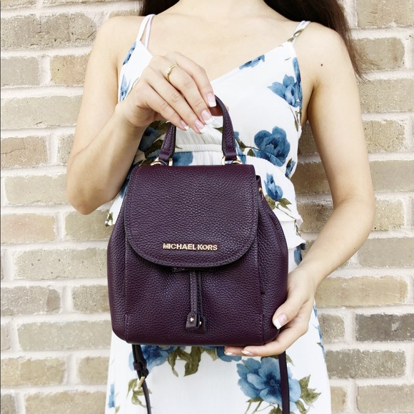 6f37c5960025 Michael Kors Bags | Riley Backpack Style Crossbody Purple | Poshmark